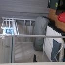 白いロフトベッド(本体と脚立)