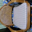 回転式  藤の椅子