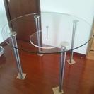 中古ガラステーブル