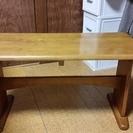 テーブルのベンチ