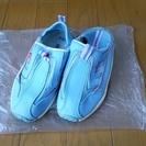19センチ 靴 水色