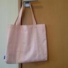 ピンクのトートバッグ