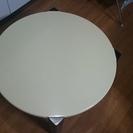 【直径75センチメートル】折り畳み式シンプルローテーブル