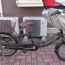 子供乗せ自転車 ママフレツインMCC203 ダークブラウン 後...