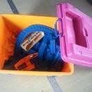 おもちゃBOX、プラレール線路(子どもが使わないので)