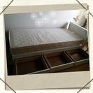 【交渉中】セミシングルサイズのベッドです