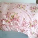 薔薇のカバー付き羽毛布団