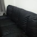 黒色、革ソファ!
