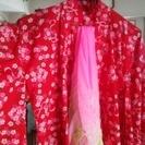 フェリシモ女児浴衣130共布リボン、ヘコ帯つき