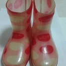 piko ピンク水玉 長靴 14cm