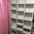 ニトリで購入した書棚。デカイです。