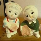 【再値下げ】置き物、夫婦どじょうすくい人形