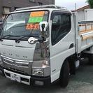 三菱 キャンター 高床3t強化ダンプ (ホワイト) トラック