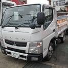 三菱 キャンター 全低床3t強化ダンプ (ホワイト) トラック