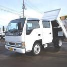 いすゞ エルフ 2t FFL 標準 Wキャブ/ダンプ (ホワイ...