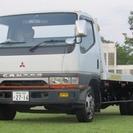 三菱 キャンター 積載車 (ホワイト) トラック