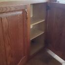 キッチン用木製吊り戸棚2台