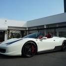 フェラーリ 458スパイダー F1 DCT 正規ディ-ラ-車...
