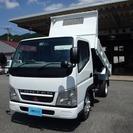 三菱 キャンター 2t 全低床強化ダンプ (ホワイト) トラック
