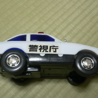 大型パトカーのおもちゃ 記名のUSED品 汚れ・キズあり − 大阪府