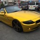 BMW Z4 ロードスター2.2i ブラック本革シート 社外アル...