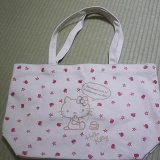 キティ A4サイズも入る帆布バッグ 折り畳めます