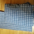 掛け布団と敷カバーのセットです。中古