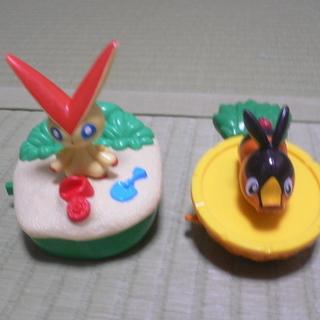 マクドのおもちゃ ポケモン:ビクティニとポカブ お風呂のお…