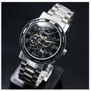 ♡新品自動巻き♡超COOLな腕時計ブラックタイプ