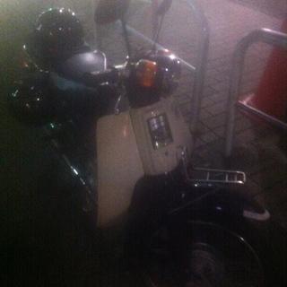 【売ります】ホンダスーパーカブ90(青)荷台座席タイプ/車…