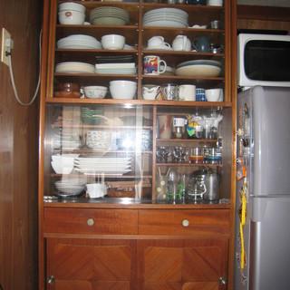 昭和レトロの3点セット 食器棚・レトロ柄トースター・カラーBOX - 川口市