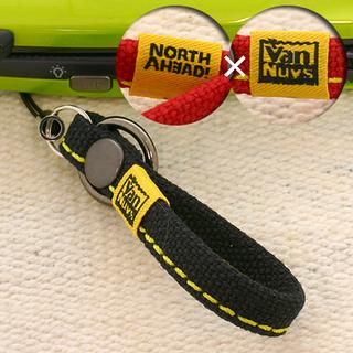 ノースアヘッドxバンナイズ 帆布ショート携帯ストラップ(ブラック...