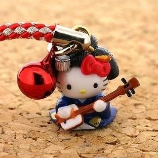 【ご当地キティ】神楽坂キティ根付携帯ストラップ