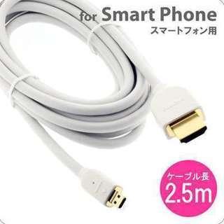 [各種スマートフォン対応] HDMI-Microケーブル(タイプ...