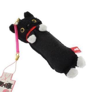 ながながぬいぐるみクリーナー携帯ストラップ(靴下にゃんこ)