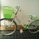 自転車 22インチ 女 緑系 中古