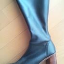 幅広25センチ黒ロングブーツ1000円で売ります。室内試し…