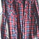 秋・冬用 赤チェックシャツ