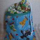 ●ピカチュウ&ワンピースの巾着 ハンドメイド
