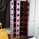ピンクの回転本棚です。