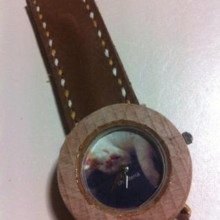 お昼ネコ☆世界で一つのハンドメイド腕時計