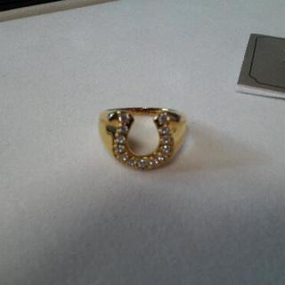 馬蹄形の指輪♪