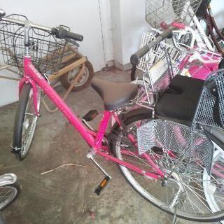 自転車+子供の椅子