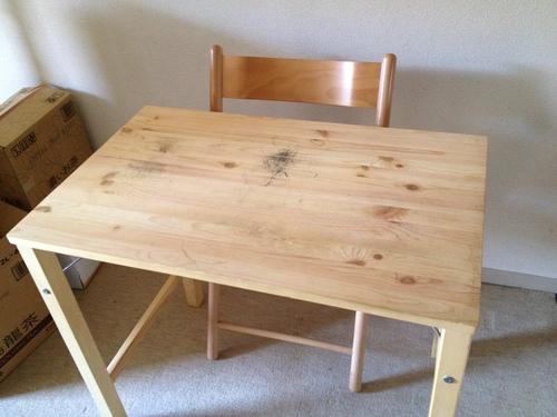 交渉中)無印良品 折り畳み式 机・椅子セットの画像
