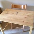 (交渉中)無印良品 折り畳み式 机・椅子セットの画像