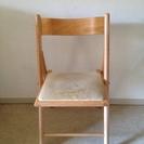 (交渉中)無印良品 折り畳み式 机・椅子セット - 中央区