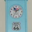 木製ルート66壁掛け時計