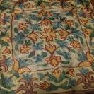 【終了】インドで購入 総シルク刺繍のクッションカバー2種