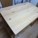 【交渉中】無印良品 パイン材 折りたたみ式テーブルの画像
