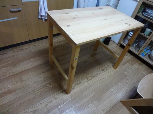 パイン材テーブル 折りたたみ式 机 デスク /検索用 MUJI 無印良品 ikea